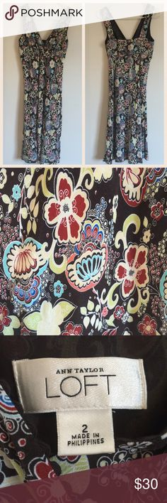 Selling this Ann Taylor LOFT Floral Print Dress on Poshmark! My username is: kt_wood. #shopmycloset #poshmark #fashion #shopping #style #forsale #LOFT #Dresses & Skirts