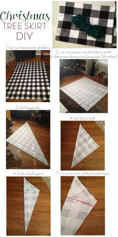 DIY: christmas tree skirt