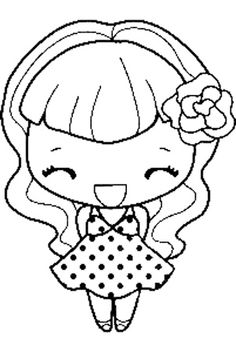Colorful Drawings, Colorful Pictures, Cute Drawings, Coloring Pages For Girls, Coloring Book Pages, Digital Stamps Free, Spectrum Noir Markers, Pattern Coloring Pages, Digi Stamps