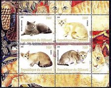 Djibouti 2008 Cats British Shorthair Burmilla Siamese Pets Animals m/s MNH