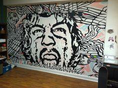 mural with teeth