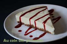Cheesecake speculoos/chocolat blanc/coulis framboise