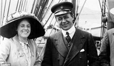 In love: Captain Scott pictured with his wife Kathleen. He asked his friend Sir Francis Bridgewater to make sure Kathleen and their son would be looked after