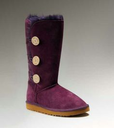 UGG Womens Purple Boots 1873 Triplet Bailey Button