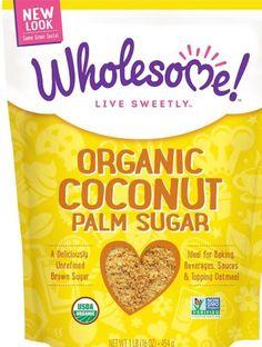 Wholesome Sweeteners Inc. Organic Coconut Palm Sugar 16 oz (454 g) Koser GF Free #wholesomesweeteners
