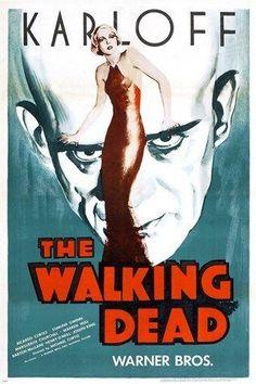 BORIS KARLOFF the walking dead CLASSIC MOVIE POSTER horror 24X36 RARE hot