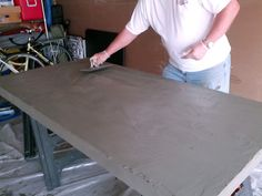 Cement Resurfaced dining table