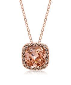 Loving this Morganite & Marcasite Cushion-Cut Pendant Necklace on #zulily! #zulilyfinds