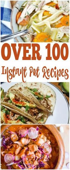 With over 100 Instant Pot Recipes you are sure to find something the whole family will enjoy. Instant Pot Soup Recipes, Instant Pot Desserts, Instant Pot Beef recipes and much more! So many great pressure cooker recipes.