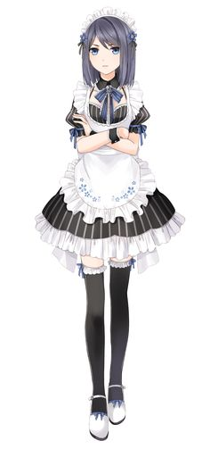 You like your new job heather….and your new haircut Heather: SHUT UP GALAXY - Christmas-Desserts Maid Outfit Anime, Anime Maid, Anime Dress, Anime Outfits, Manga Girl, Manga Anime, Anime Art Girl, Female Characters, Anime Characters