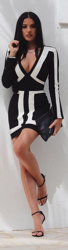 Black and White // Dress from @knowstyleusa // Fashion Look by Laura Badura