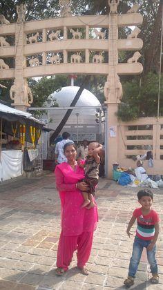 Chaitya Bhumi, Mumbai,  Me with my two daughters.