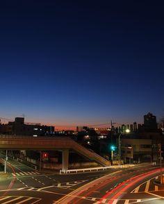 #pl6 #olympuspen #蓮根歩道橋 #overpass #itabashi #nightview #olympus  久々の朝活行ってきましたちょっと早すぎてまだ暗いです (by htakizawa)