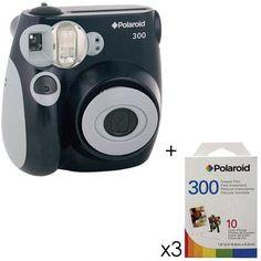 Polaroid Pic 300 Instant Camera, Analog - Black Kit, with 3 - Packs of Polaroid 300 Instant Film