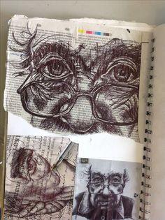 Art carnet, a level art sketchbook, sketchbook ideas, sketchbook layout, sk Art Sketches, Art Drawings, Portrait Sketches, Gcse Art Sketchbook, Sketchbooks, A Level Art Sketchbook Layout, Sketching, Sketchbook Inspiration, Sketchbook Ideas