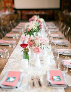 Wedding table layout~♥
