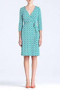 New Julian Two Dress in Chain Link Medium Green