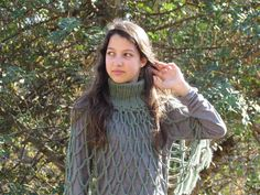 Crochet Poncho for Women and Girls Accessory Shawl by ettygeller, $45.00