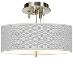 Brushed Steel with Diamonds Shade Ceiling Light - #EU55369-4T500 - Euro Style Lighting