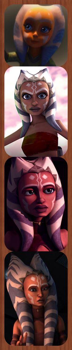 Ahsoka Tano growing up from The Clone Wars