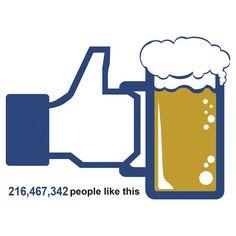 Facebook Parody Beer Thumbs Up - People Like This