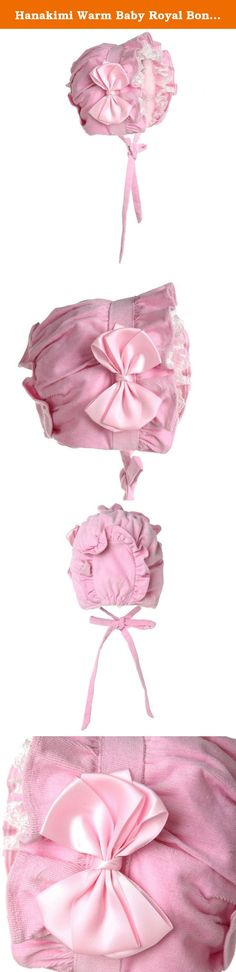 Hanakimi Warm Baby Royal Bonnet Handmade(Newborn - 3 Years) (M/12M, Pink). Baby Bonnets are a time old tradition that carries into present day because of their elegance and functionality. They're offered in small to large sizes then tie at the chin with two silk ribbons for a more secure and comfortable fit. Carry the tradition in your family with a bonnet from Hanakimi you can't find anywhere else. For parties and photos, choose from baby girl bonnets for the perfect accessory to accent...