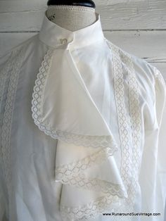 Vintage Blouse  Ivory and LACE Country by runaroundsuevintage, $24.00