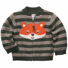 Zip-Front Fox Cardigan. I want this for the baby so bad! Cute little hipster baby fashion!