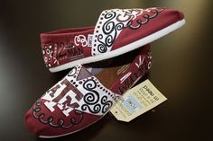 Hand Painted Texas A Aggie Toms Made To by PaintingByMacKenzie. These to go with my game day dress!