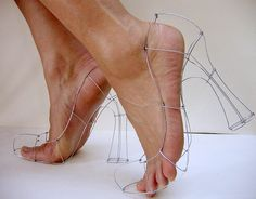 Wire Shoes. Very funny.Wire art | Wire Sculpture: Wireframe Heels | Flickr - Photo Sharing!