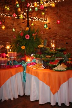 Food display and candle tree