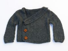 Deep grey stylish boy sweater by evahandmade on Etsy,