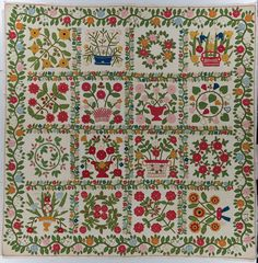 Baltimore Album Quilt, 1850. Look at all the work in the sashing!