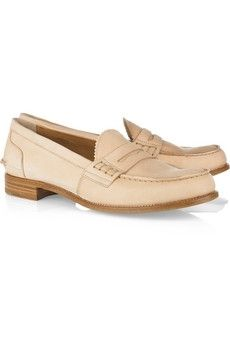 Church's|Sally leather penny loafers|NET-A-PORTER.COM - StyleSays