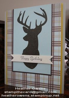 Stampin on the prairie canvas creations masculine birthday card birthday deer using remembering christmas from stampin up mens birthday cardsmasculine bookmarktalkfo Gallery