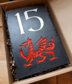 Our weekly delivery from our Crynant workshop included lots of beautiful, handcrafted Welsh slate house signs ready to be taken to their new homes 😍