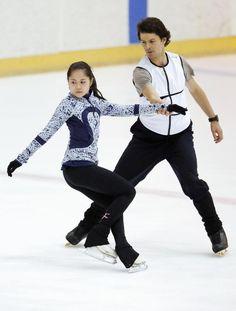 Satoko Miyahara(JAPAN) and Stephan Lambiel(Swiss)
