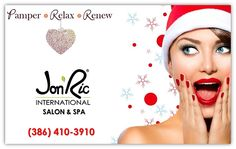 The Holidays are here! Don't forget to pick up a gift card for yourself or that special someone. Stop by Jon'Ric International Salon & Spa New Smyrna Beach TODAY and spread some holiday cheer!