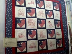 Embroidered quilt  I made quilted by Michaela A. Hughes