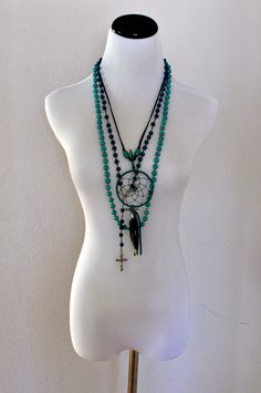 Turquoise Dream Catcher Rosary and Beaded by HipsterishVintage