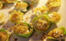 Brussels Sprouts Boats Recipe - perfect vegetarian finger food