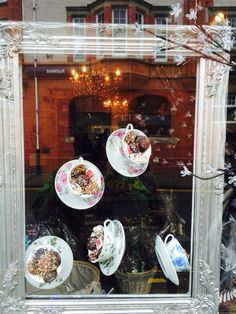 Chocolate shop window display , Menai Bridge