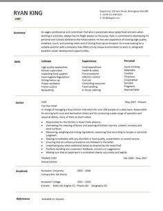 Chef Skills Resume Captivating Teachers Httpwww.teachersresumes.au Teachers' Professional .