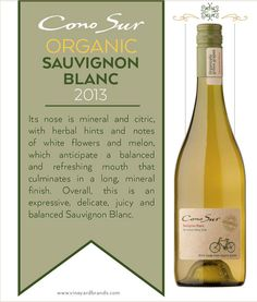 #ConoSur Organic Sauvignon Blanc 2013 #wine
