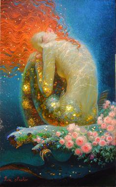 Victor Nizovtsev siren song more art by Victor. Fantasy Mermaids, Mermaids And Mermen, Art And Illustration, Victor Nizovtsev, Mermaid Artwork, Mermaid Paintings, Fairy Art, Psychedelic Art, Fantasy Artwork