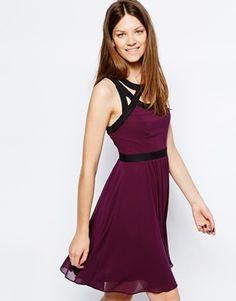 Warehouse Feature Strap Soft Neck Dress
