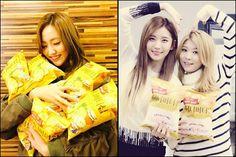 K-Pop Stars mit Honig-Butter-Chips #허니버터칩 #HoneyButterChip #Koreawelle