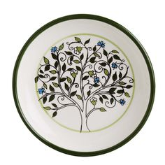 A blossoming tree of life, circled with living green. Hand-painted ceramic artistry, produced by artisans living and working in Hebron. Tree of Life Dish. $16.