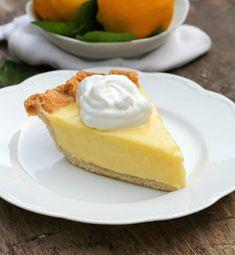 Sour Cream Lemon Pie by Bunny's Warm Oven Lemon Pie Recipe, Lemon Dessert Recipes, Lemon Recipes, Pastry Recipes, Pie Recipes, Fun Desserts, Sweet Recipes, Dessert Ideas, Recipies