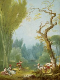 A Game of Horse and Rider, c. 1775/1780, Fragonard, Jean-Honoré, French, 1732 - 1806, via Rococo Revisited